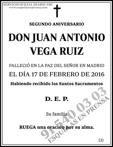 Juan Antonio Vega Ruiz
